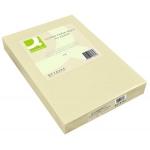 Papel color Q-connect tamaño A3 80gr crema paquete de 500 hojas