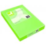 Papel color Q-connect tamaño A3 80gr verde intenso paquete de 500 hojas