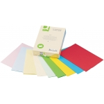 Papel color Q-connect tamaño A4 80 gr 5 colores surtidos pastel paquete de 500 hojas