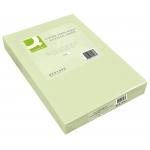 Papel color Q-connect tamaño A4 80 gr verde paquete de 500 hojas