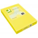 Papel color Q-Connect tamaño A4 80gr amarillo intenso paquete de 500 hojas