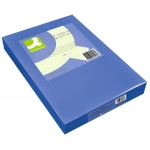 Papel color Q-connect tamaño A4 80gr azul intenso paquete de 500 hojas