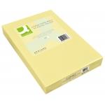 Papel color Q-connect tamaño A4 80gr champáginasne paquete de 500 hojas