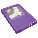Papel color Q-connect tamaño A4 80gr lila intenso paquete de 500 hojas