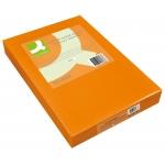 Papel color Q-connect tamaño A4 80gr naranja intenso paquete de 500 hojas