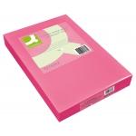 Papel color Q-connect tamaño A4 80gr rosa intenso paquete de 500 hojas