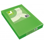 Papel color Q-connect tamaño A4 80gr verde intenso paquete de 500 hojas