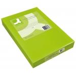 Papel color Q-connect tamaño A4 80gr verde neon paquete de 500 hojas
