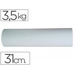 Papel color blanco bobina de 31 cm 3,5 kg
