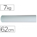 Papel color blanco bobina de 62 cm 7 kg