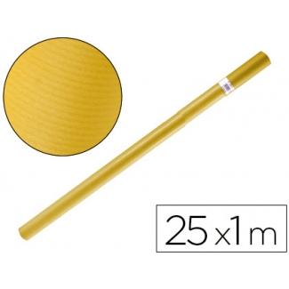 Papel color kraft Liderpapel amarillo rollo 25x1 mt