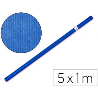Papel color kraft Liderpapel azul rollo 5x1 mt