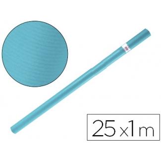 Papel color kraft Liderpapel azul turquesa rollo 25x1 mt