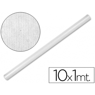 Papel color kraft Liderpapel blanco rollo 10x1 mt