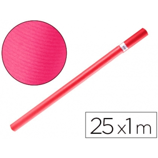 Papel color kraft Liderpapel fucsia rollo 25x1 mt
