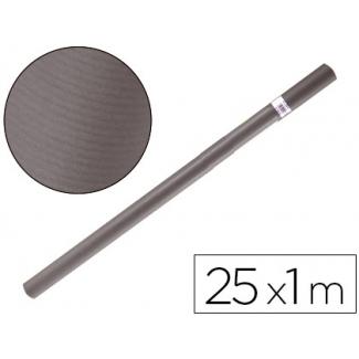Papel color kraft Liderpapel gris ferro rollo 25x1 mt