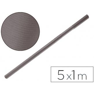 Papel color kraft Liderpapel gris ferro rollo 5x1 mt