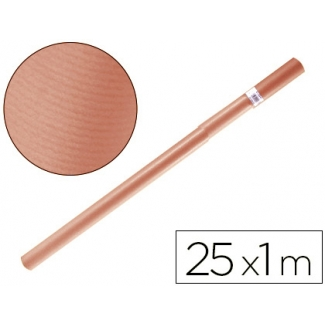 Papel color kraft Liderpapel salmon rollo 25x1 mt