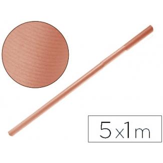 Papel color kraft Liderpapel salmon rollo 5x1 mt