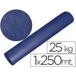 Papel color kraft azul mt x 250 mt s especial para embalaje