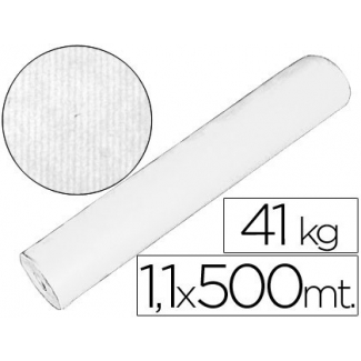 Papel color kraft blanco mt x 500 mt s especial para embalaje