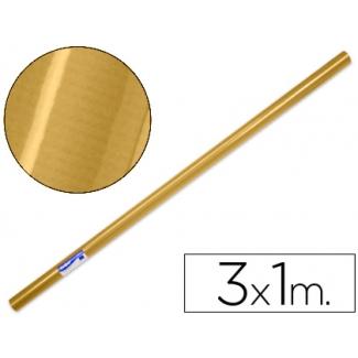 Papel color kraft oro rollo 3x1 mt