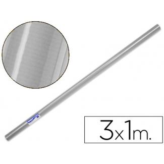 Papel color kraft plata rollo 3x1 mt