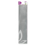 Liderpapel CP21 - Papel crespón, 50 cm x 2,5 m, color plata metalizado