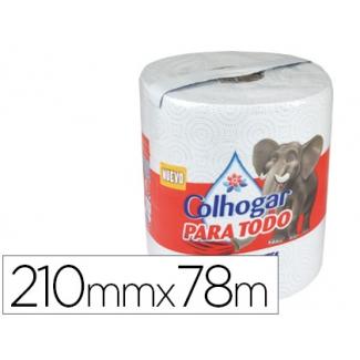 Papel de cocina Colhogar jumbo 42g/m2 ancho 210 mm largo 78m