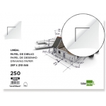 Papel dibujo Liderpapel 210x297 mm 150 gr/m2 con cajetin