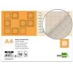 Papel dibujo Liderpapel 210x297 mm 80 gr/m2 milimetrado pack de 10