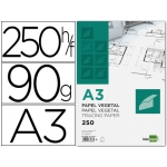 Papel dibujo Liderpapel 297x420 mm 90 gr/m2 vegetal