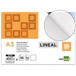 Papel dibujo Liderpapel lineal 297x420 mm 130 gr/m2 con recuadricula de pack de 10