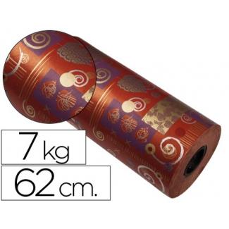 Papel fanstasia color kraft havana todo el año bobina 62 cm 7 kg