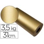 Papel fantasía color kraft havana frech oro bobina 31 cm 3,5 kg