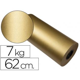 Papel fantasía color kraft havana frech oro bobina 62 cm 7 kg