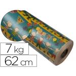 Papel fantasía color kraft havana motivo infantil bobina 62 cm 7 kg