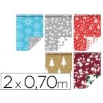 Papel fantasía color navidad doble cara rollo de mt papel 60 gr modelos surtidos
