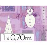 Papel fantasía color navidad plegado suave hoja mt 60 grs
