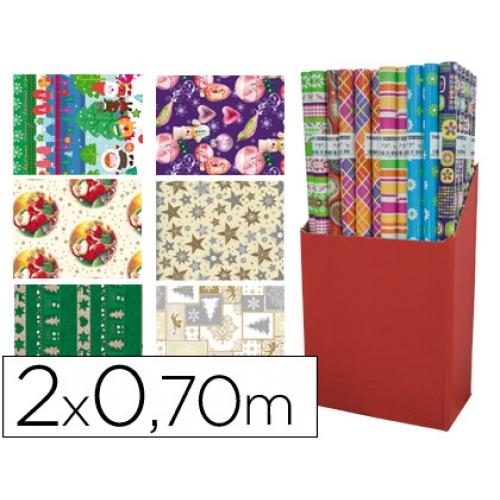 Papel fantasía color navidad rollo 2 x mt 60 gr modelos surtidos ...