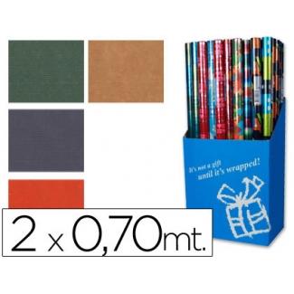 Liderpapel - Papel fantasía kraft, rollo de 70 cm x 2 m, 60 g/m2, colores lisos