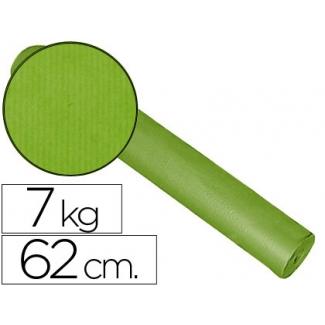 Impresma - Papel kraft liso, bobina de 620 mm x 200 mt, 60 gramos, color pistacho