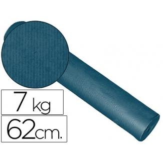 Impresma KFC-C - Papel kraft liso, bobina de 620 mm x 200 mt, 60 gramos, color cobalto