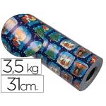 Papel fantasía vergurado color navidad bobina 31 cm 3,5 kg