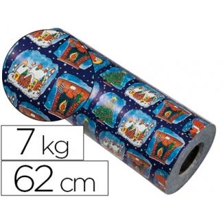 Papel fantasía verjurado color navidad bobina 62 cm 7 kg
