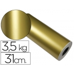 Papel fantasía verjurado star color oro bobina 31 cm 3,5 kg