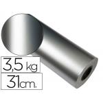 Papel fantasía verjurado star color plata bobina 31 cm 3,5 kg