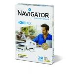 Papel fotocopiadora Navigator home pack tamaño A4 80 gramos paquete de 250 hojas