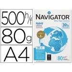 Papel fotocopiadora Navigator hybrid premium tamaño A4 80 gramos paquete de 500 hojas