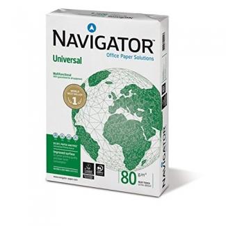Papel fotocopiadora Navigator tamaño A4 80 gramos paquete de 500 hojas
